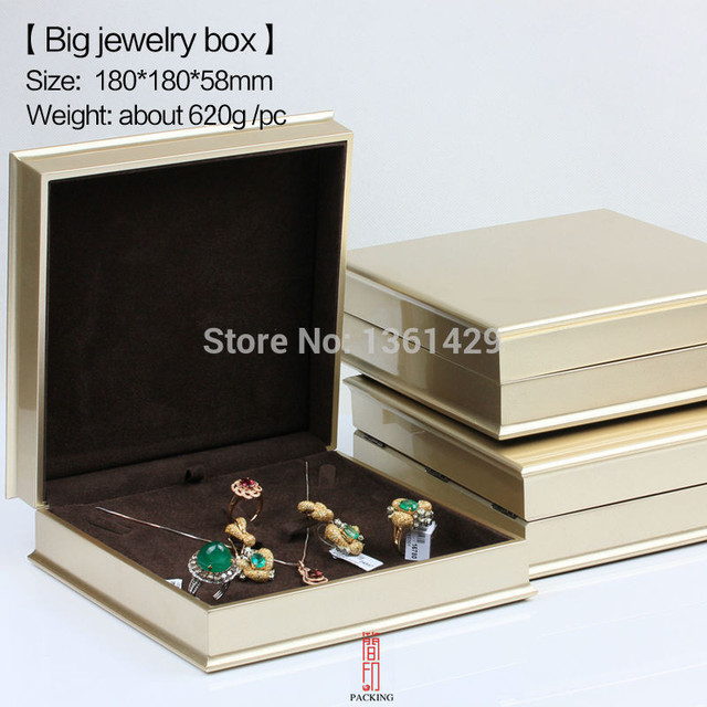 golden colour Jewelry Box Organizer Boxes The Box set for Ring