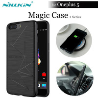 NILLKIN QI Wireless Charging Receiver Magic Case For ONEPLUS 5 A5000 Magnetic Function Matte Phone Back