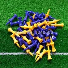 Free Shipping 100 pcs/bag Assorted 43mm Plastic Step Down Golf Tees Height Control, golf tee