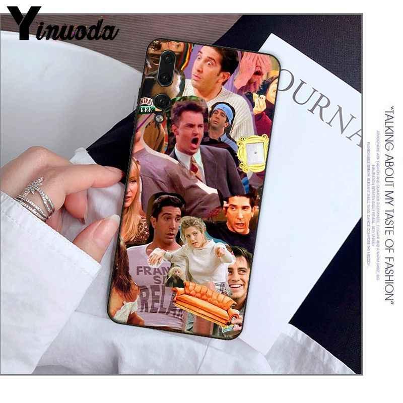 Yinuoda Friends Season TV TPU black Phone Case Cover Shell for Huawei P20 Pro P10 Plus P9 Mate 10 Lite Mobile Cases