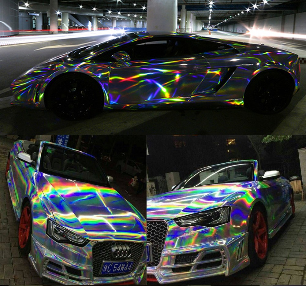 Sunice Laser Chrome Holographic Vinyl For Car Wrapping