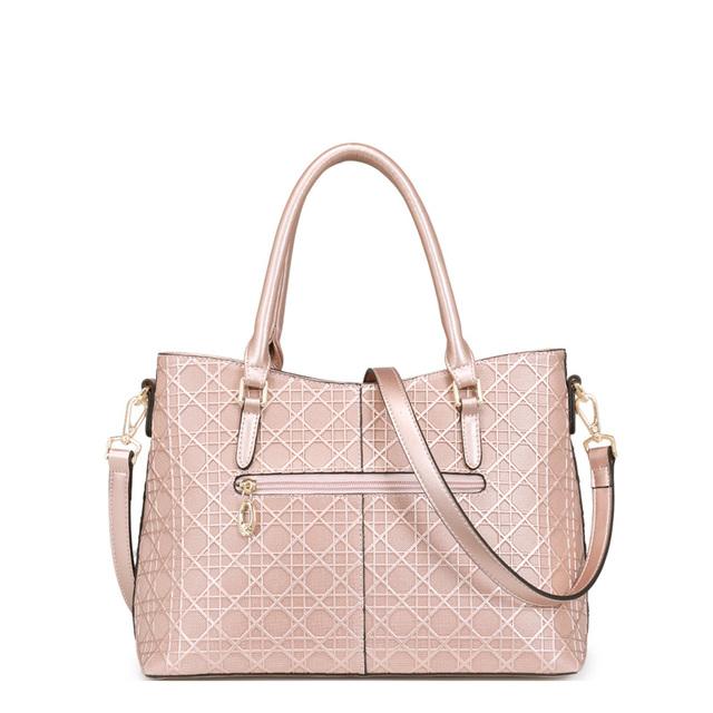 FOXER Fashion Women Leather Embossed Handbag & Crossbody Bag Women's Shoulder Bags Solid Women's Handbags