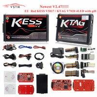 4 Led Online Master KESS V2.47 2.47 Red Ktag V7.020 V2.23 v2.25 No Token Limit K Tag 7.020 7020 ECU Programmer Gifts ECM Winols
