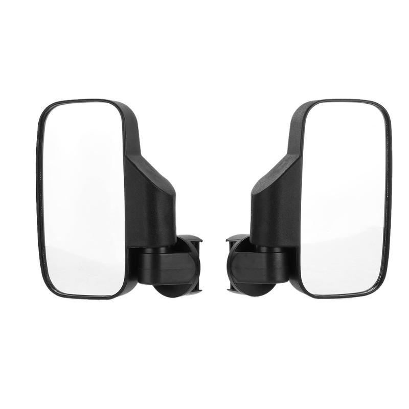 2pcs Universal Clear Car Rear View Mirror Wide Angle Blind Spot Rearview Mirrors for UTV Offroad Sideview Flat View Mirror car reversing auxiliary mirror car blind spot reversing rearview mirror support angle adjustment