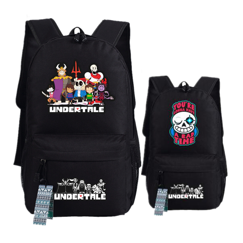 Game Undertale Frisk/toriel/sans Pixel Skeleton Printing Female Backpack Canvas School Bags For Teenagers Summer Laptop Backpack