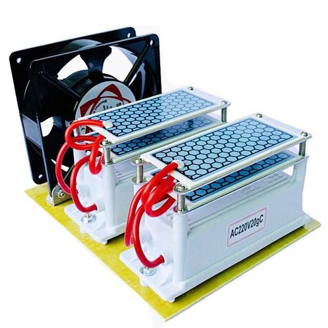 220V/110V 20g 10G güçlü Ozonizer seramik ozon jeneratörü ozon ozonator çift entegre seramik tabak Ozonizer hava temizleyici