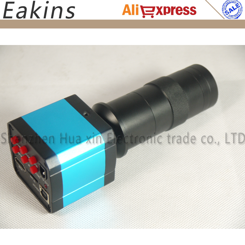 Бесплатная доставка 14MP HDMI USB Ultra HD промышленности видео микроскоп камера 8X цифровой зум 720 P выход + Объективы для фотоаппаратов