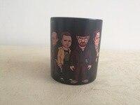 Tazas de calor que cambia de color tazas de Heisenberg Walter White Breaking Bad Pinkman Hank Saul Goodman Mike Gustavo Gus Frin taza de café