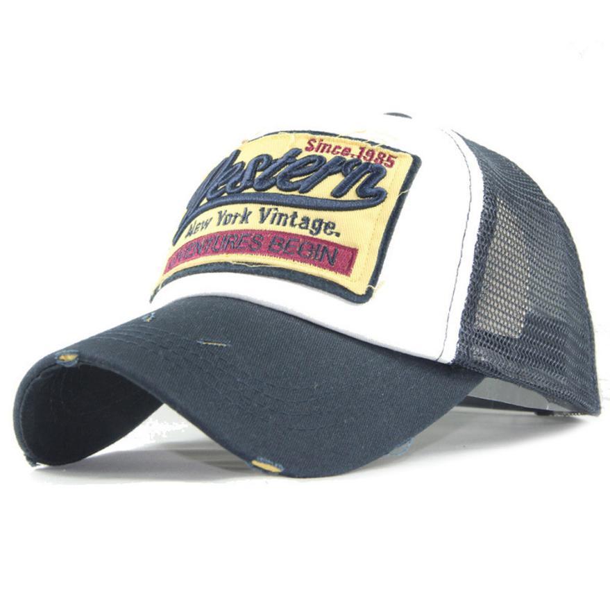 #5 Fashion Embroidered Summer Cap Mesh Hats For Men Women Casual Hats Hip Hop Baseball Caps