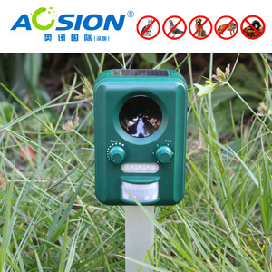Image 4 - Free Shipping AN B030 Aosion Outdoor garden use Waterproof Solar ultrasonic animal dog cat bird repeller repellent chaser