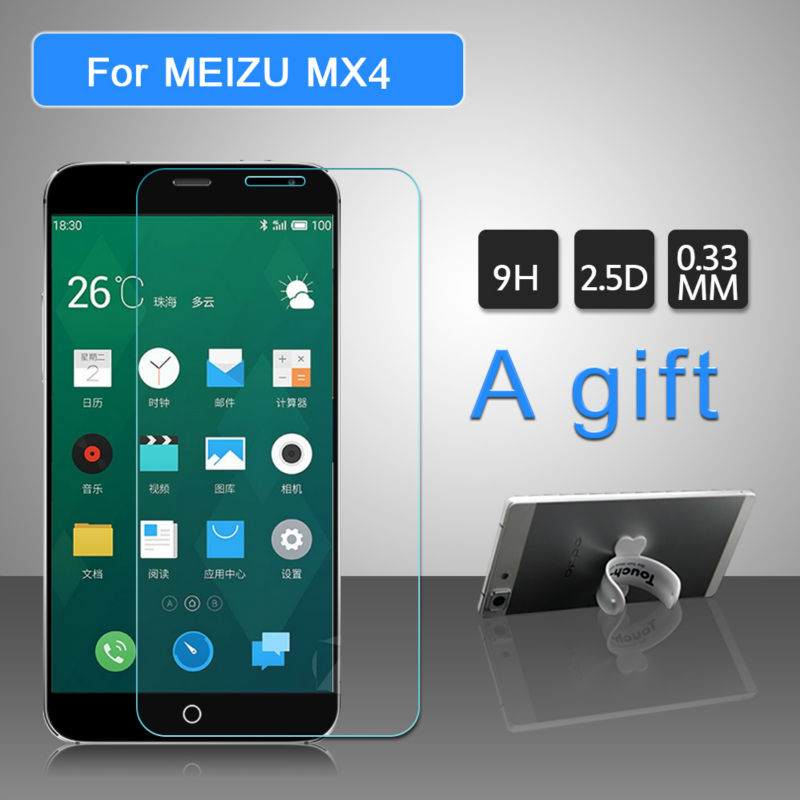 Protective Glass Screen Protector For MEIZU MX4 Anti Shatter Screen Protective Film Anti Scrach Tempered Glass 1Gift