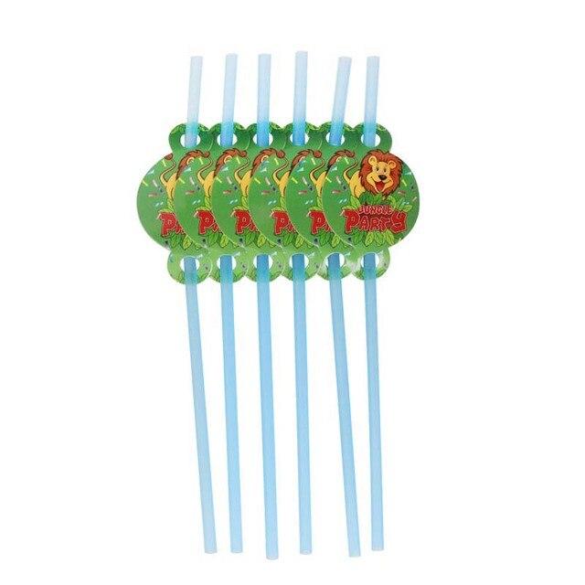 6pcs straw Monkey 1st birthday decorations 5c64f9ae5e140