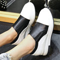AIWEIYi 2017 Shoes Woman Plus Size 34-43 Casual Slip On Loafers Glitter Thick Heel Platform Ladies Shoes Outdoor Flats Shoes