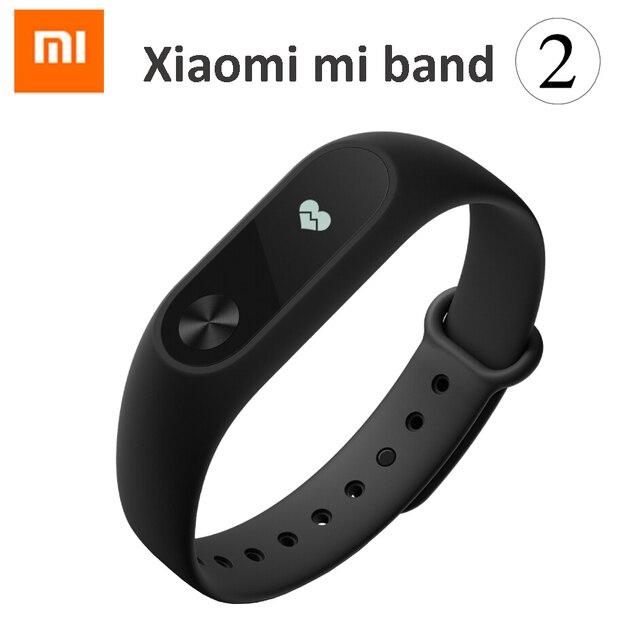 В Наличии! новый 2016 Оригинал Xiaomi Mi Группа 2 MiBand 1 S 1A Smart Сердечного Ритма Фитнес Браслет Браслет OLED Рождественские Подарки