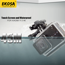 EKOSA Waterproof Housing For Xiaomi Yi 4K Action Camera Accessories Diving Touch Screen Case Surfing Hard Bag For Xiaomi Yi 2 4K