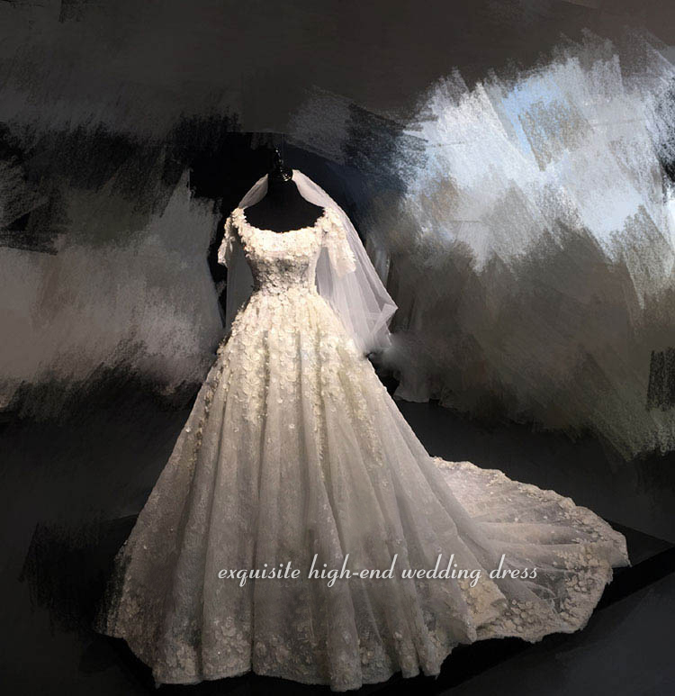 Exclusive Luxury Lace Wedding Dresses 2019 Applique Beading Vintage Wedding  Dress Chapel Train Destination Formal Bridal Gowns-in Wedding Dresses from  ... 3edd6090a1d7