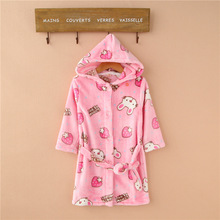Flannel Comfortable Rabbit Printed Robe for Boys and Girls