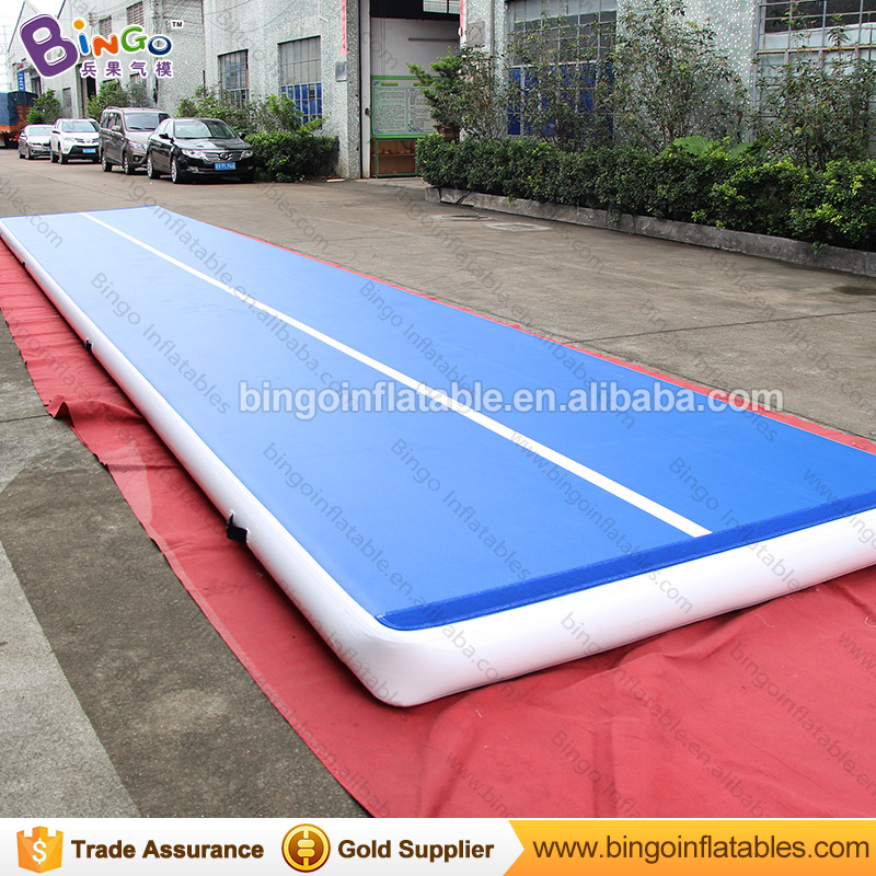 Portable 12X2m Inflatable Gymnastics high quality air track fitness sport mats jumping gym mat with blower for sport carnival 8 2m sport using air track mat gymnastics air track factory
