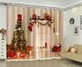 Luxe 3D rideaux pour salon chambre noël rideaux décoratifs hôtel mur tapisserie cortinas salon rideaux gordijnen