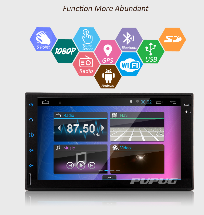 Eincar 7 Inch Android 6.0 Autoradio Double Din Universal Car Stereo Head Unit GPS Navigation Sat Nav HD Touch Screen Bluetooth WIFI Radio FM//AM Receiver Player Support USB//SD OBD 3G//4G Included a Free External Microphone !