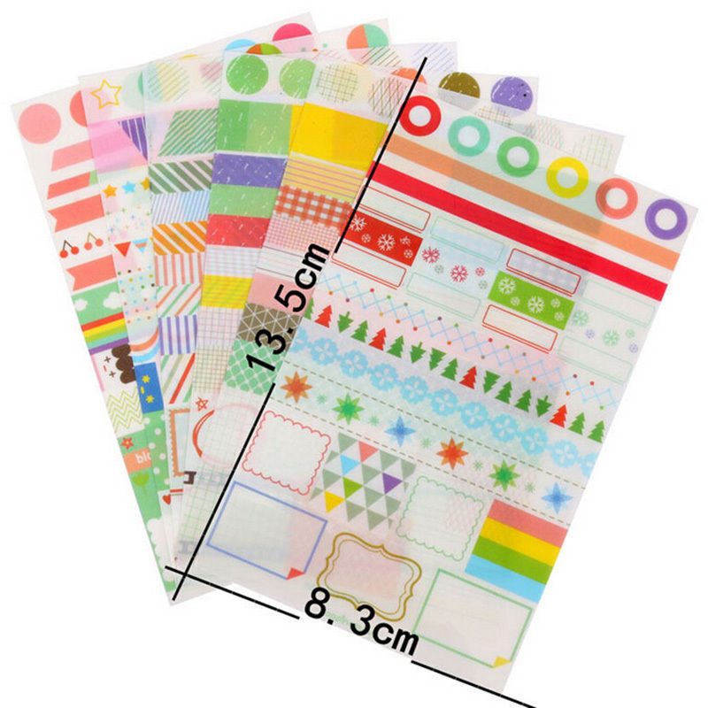 Children S Calendar With Stickers : Pcs lot pvc colorful toys stickers for kids calendar