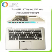 """Original Laptop 98% New Silver A1278 UK Topcase for Macbook Pro 13"""" A1278 UK topcase with keyboard 2012 Year"""