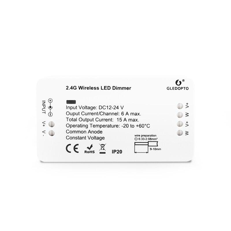1 * regulador de Control inalámbrico inteligente 2,4G regulador de iluminación LED para aplicación Zigbee Tira de LED SMD 2835 60led ip22 12v murió