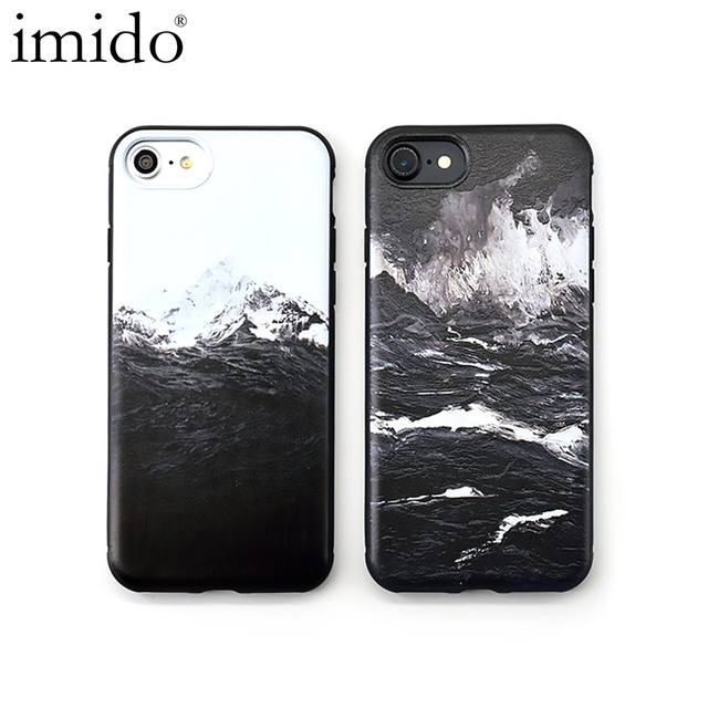 11d2745b47 Gradient Sea waves Volcano Erupt Matte Soft Cover For iphone 7 Case  Abstract Art Mount Fuji Case For iphone 8 X 6s 6 Plus Coque