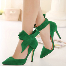 2015 Butterfly Shoes Sophia webster Royal Footwear Red Black Big Bow Pumps Pointed Ankle Strap Bow Pump ladies wedding shoes