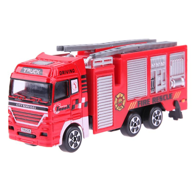 Kids Small Fire Engine Model Alloy Vehicles High Simulation Mini Fire Engine Model Alloy Vehicles Truck Toy Kids Collection Gift image