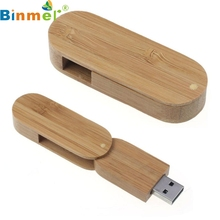 Top Quality 64GB Rotation Wood USB2.0 High Speed Flash Storage Drive Memory Stick Storing U-Disk For PC Notebook MAC MAY24