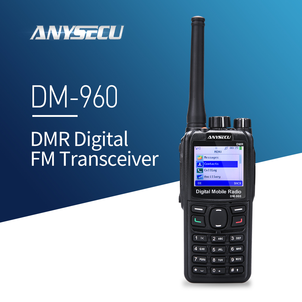 DMR Walkie Talkie DM-960 TDMA Ham Radio DM960 136-174MHz / 400-480MHZ With GPS Dual Slot Times Compatible With MOTOTRBO