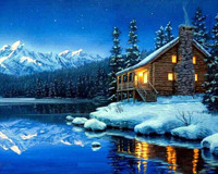 New Handmade Needlework 5d Diy Diamond Painting Embroidery Full Rhinestone Nature Riverside House Cross Stitch Painting
