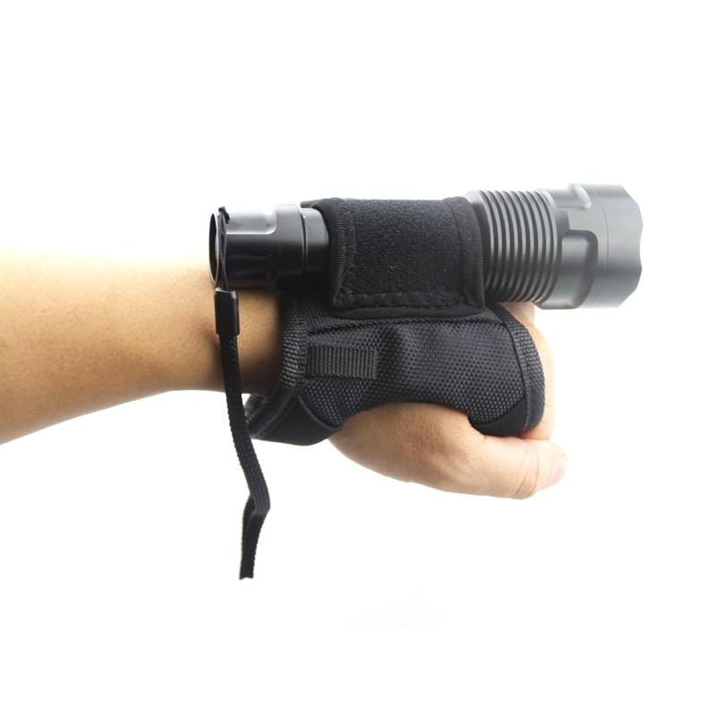 2019 nouveau sous-marin plongée sous-marine plongée torche LED boussole digitale doux noir néoprène main bras montage poignet sangle gant livraison directe