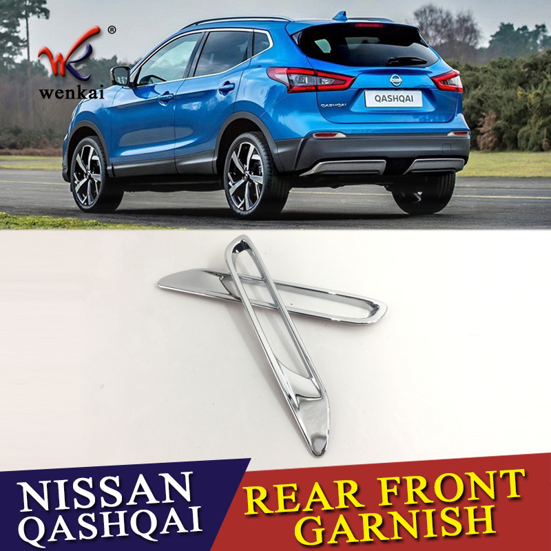 2 Pcs/lot for Nissan Qashqai J11 2017 2018 ABS Chrome Rear Reflector Fog Light Lamp Cover Sticker Decoration Trim Accessories цена