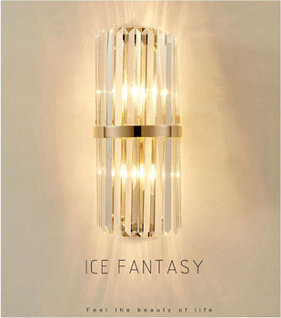 Postmodern Crystal Rod LED Wall lights Bedroom Bedside Wall lamp Hotel Restaurant Villa Aisle Living room Decorative Wall Lamps