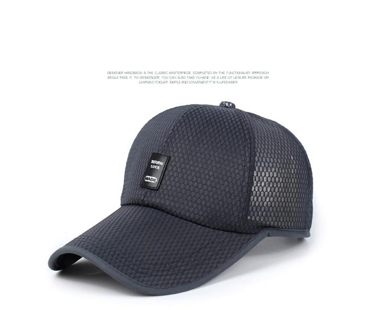 8bd821822f4 Fashion mesh breathable baseball cap hat golf male hats run leisure ...