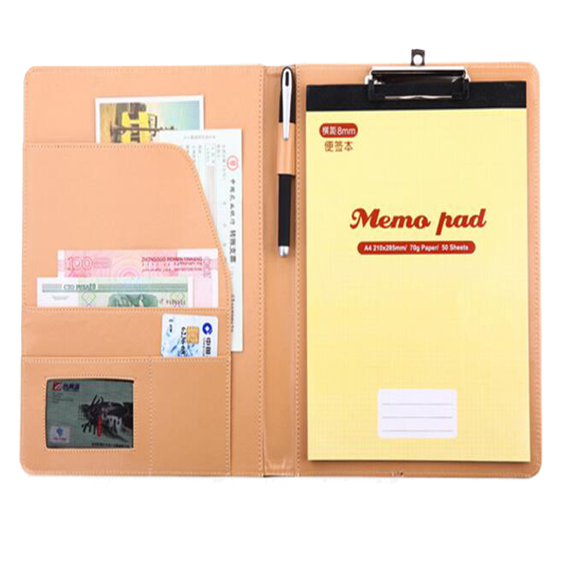 Italian PU Leather Folder A4 , Multifunctional Document Folders free multifunctional pen italian visual phrase book