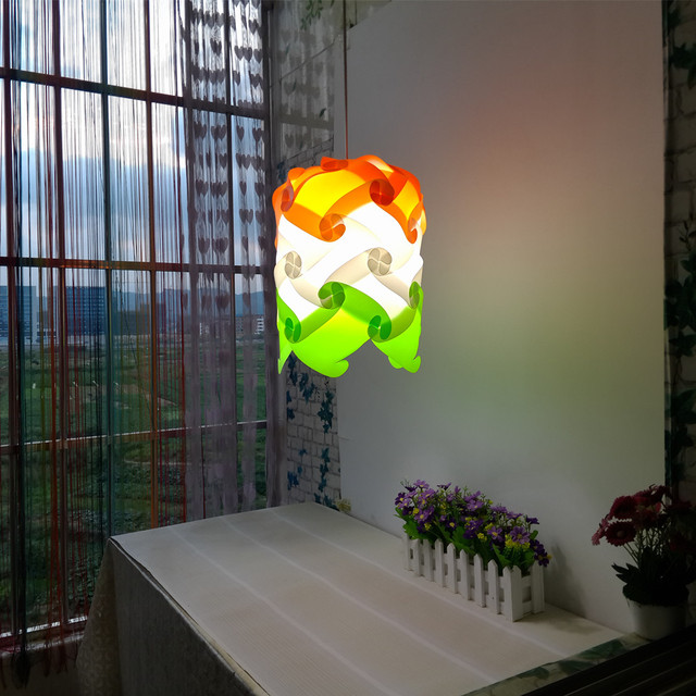 New Pinele Modern Contemporary Diy Elements Iq Jigsaw Puzzle Ze Lamp Shade Ceiling Pendant Ball Light Lighting 110 240v