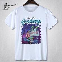 Lei-sagly Rock Rapper Travis Scott gráfico hombres manga corta Camiseta Hip  Hop impreso hombre negro Camiseta de algodón casual . bf604b9a03a