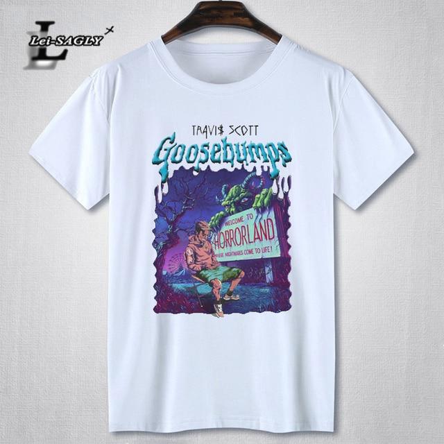 1cd06cab Lei-SAGLY Rock Rapper Travis Scott Graphic T Shirt Men Short Sleeve Hip Hop  Printed Male Black T-Shirt Cotton Casual Men's Tee