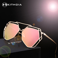 KITHDIA Fashion Women Sunglasses Polarized Classic Brand Designer Coating Mirror Flat Panel Lens Summer Shades