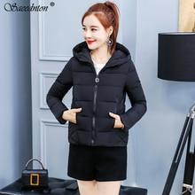 2019 New Ladies Fashion Coat Winter Jacket Women Outerwear Short Wadded Jacket Female Cotton Padded Parka Women Hooded Overcoat цены онлайн