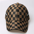 Hot cotton baseball cap Lattice shape cap child teenager adult male female snapback Luxury cap