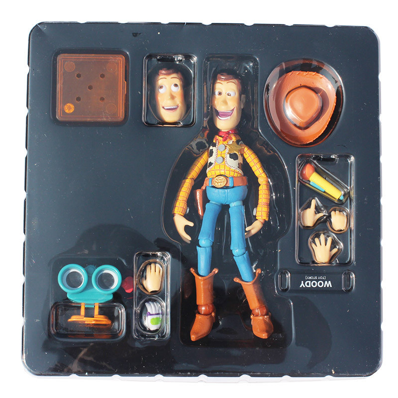 Toy Story Woody Series NO. 010 Sci-Fi Revoltech Special PVC Action Figure Collectible Toy Great Gift 17cm Approx toy story 3 talking woody jessie pvc action figure collectible model toy doll