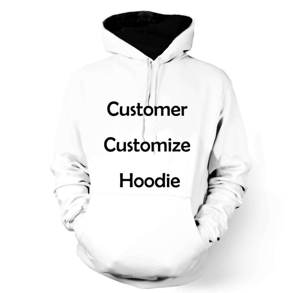 ONSEME Homens/Mulheres de Manga Comprida Com Capuz Camisolas Do Cliente Personalizar Hoodies Pullovers DropShipping OHO-01-18