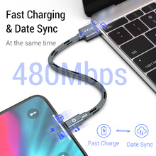 PZOZ usb cable for iphone Xs max Xr X 8 7 6 6s 5 s plus ipad mini fast charging