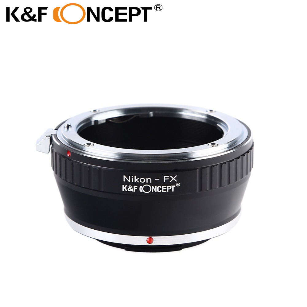 "K&F CONCEPT Nemokamas pristatymo adapteris žiedas ""Nikon"" automatiniam AI AI AF objektyvui Fujifilm Fuji FX X-Pro1 X-E1 kamerai"