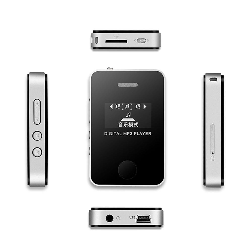 Мини Hi-Fi музыкальный плеер MP3 плеер mp3 плеер Изысканный музыкальный звук Воспроизведение медиа с ЖК-экраном Поддержка 16 Гб Micro SD TF карты