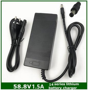 58.8v1.5a carregador de bateria de lítio da bicicleta elétrica 58.8 v 1.5a para 14 séries bateria de lítio 58.8v1.5a carregador